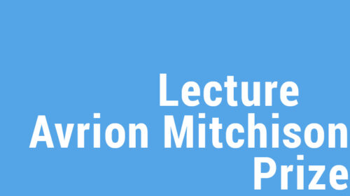 Avrion Mitchison Prize Lecture