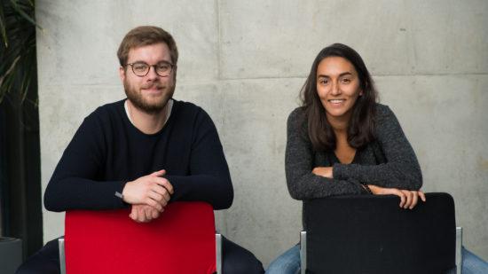 Rebecca Cornelis und Lukas Heiberger