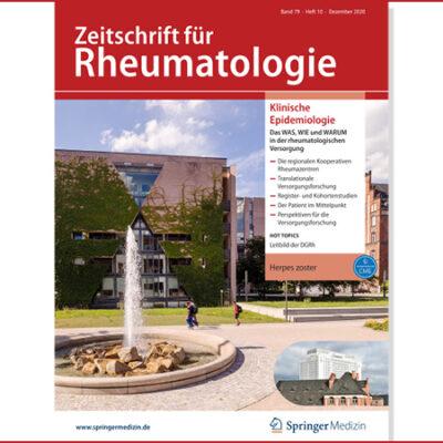 Zeitschrift für Rheumatologie, Titelbild 12-2020